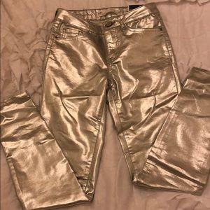 Zara metallic jeans